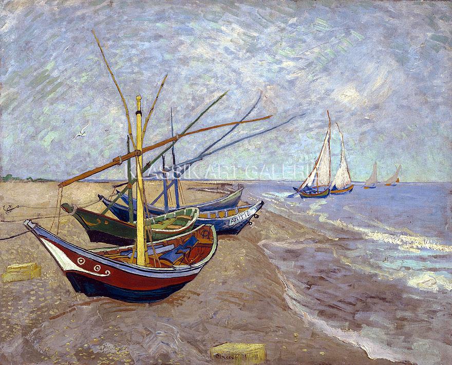 VINCENT VAN GOGH Fischerboote am Strand von Les Saintes-Maries-de-la-Mer