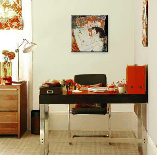 gustav klimt mutter und kind bild gicl e druck leinwand premium qualit t ebay. Black Bedroom Furniture Sets. Home Design Ideas